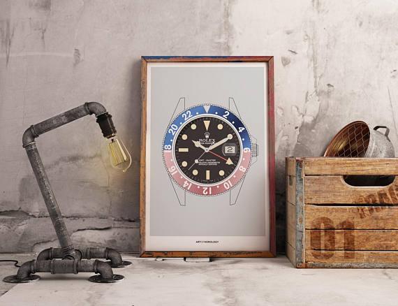 Uhrenposter als Geschenk