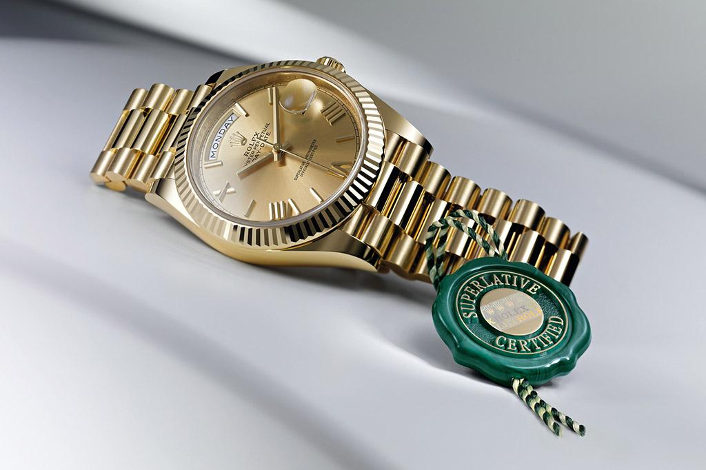 Schweizer Uhrenmarken – Rolex DAY-DATE 40