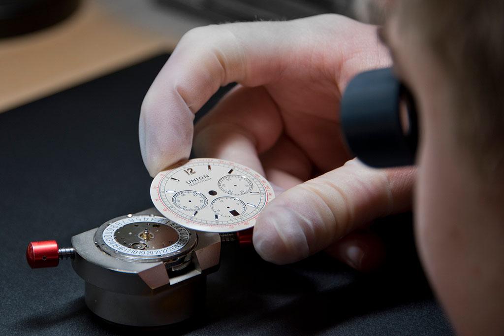Union Glashuette Uhrenkopfmontage