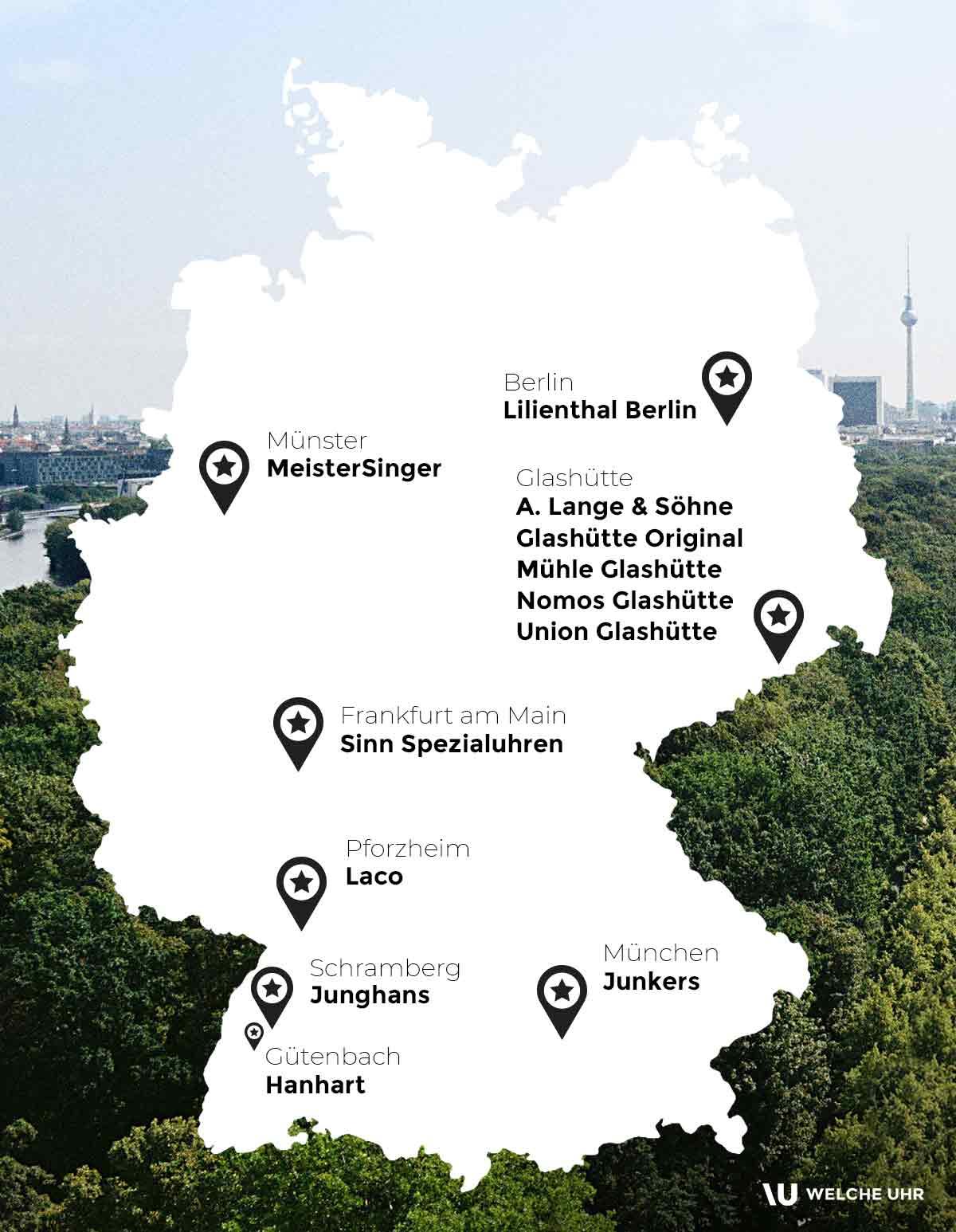 Deutschlandkarte_Deutsche-Uhrenmarken
