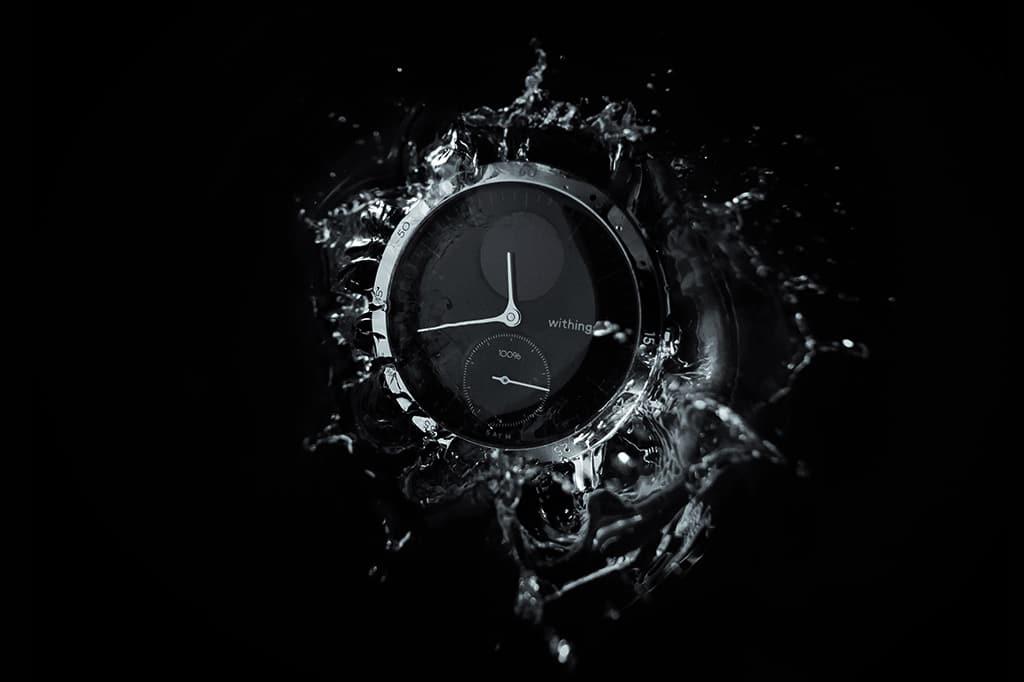 Schwarze Hybrid Smartwatch