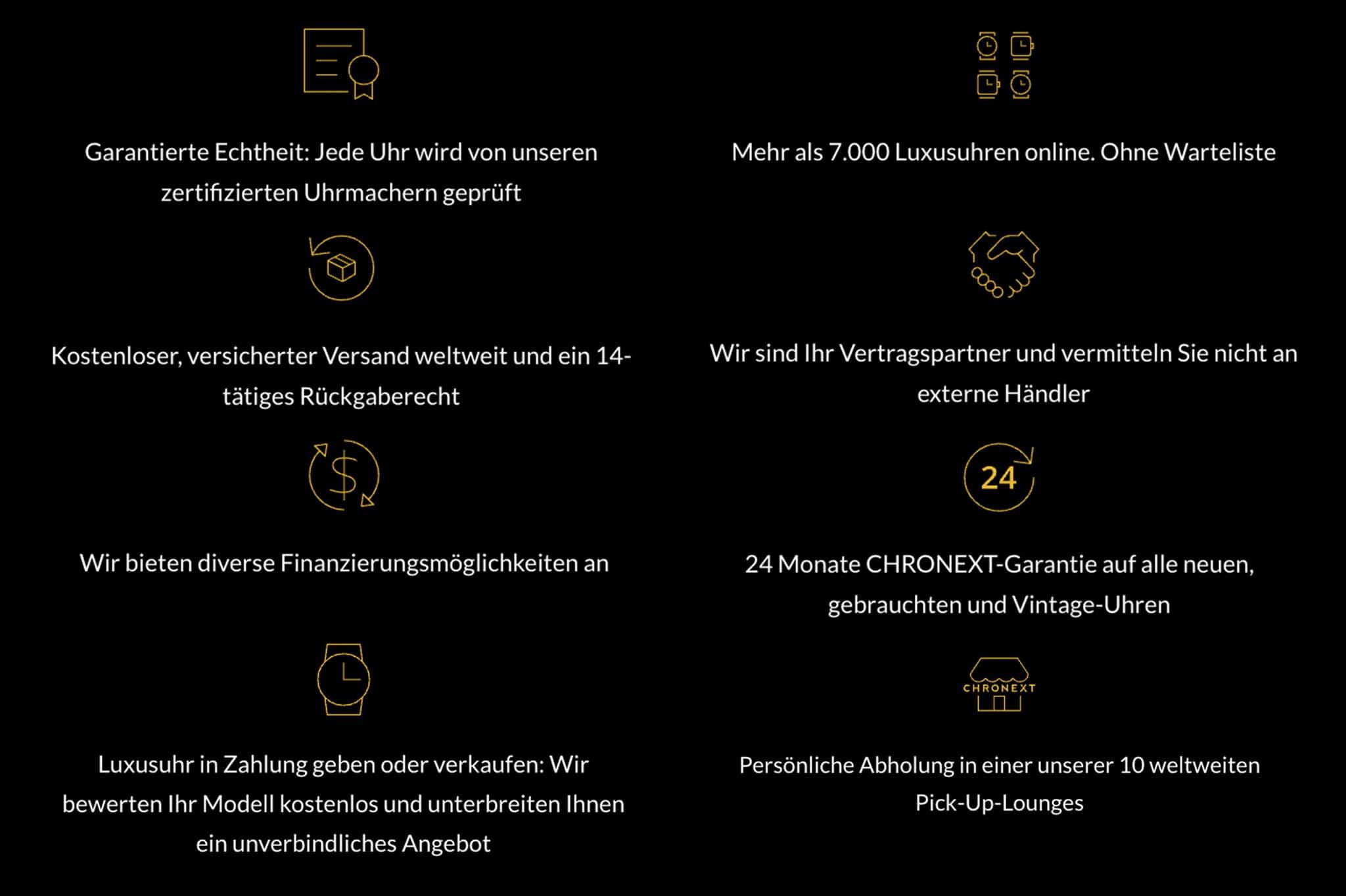 CHRONEXT Gutschein-Vorteile