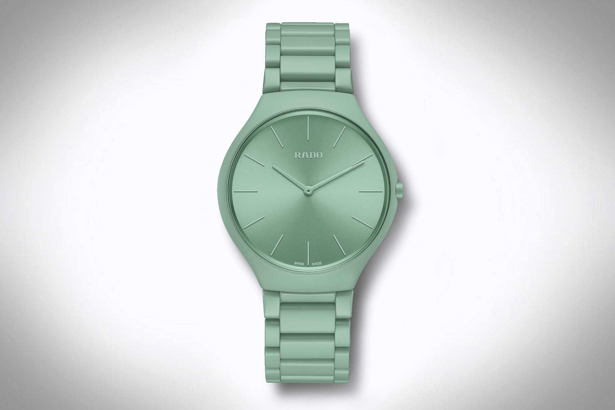 Rado True Thinline Les Couleurs Le Corbusier in grün