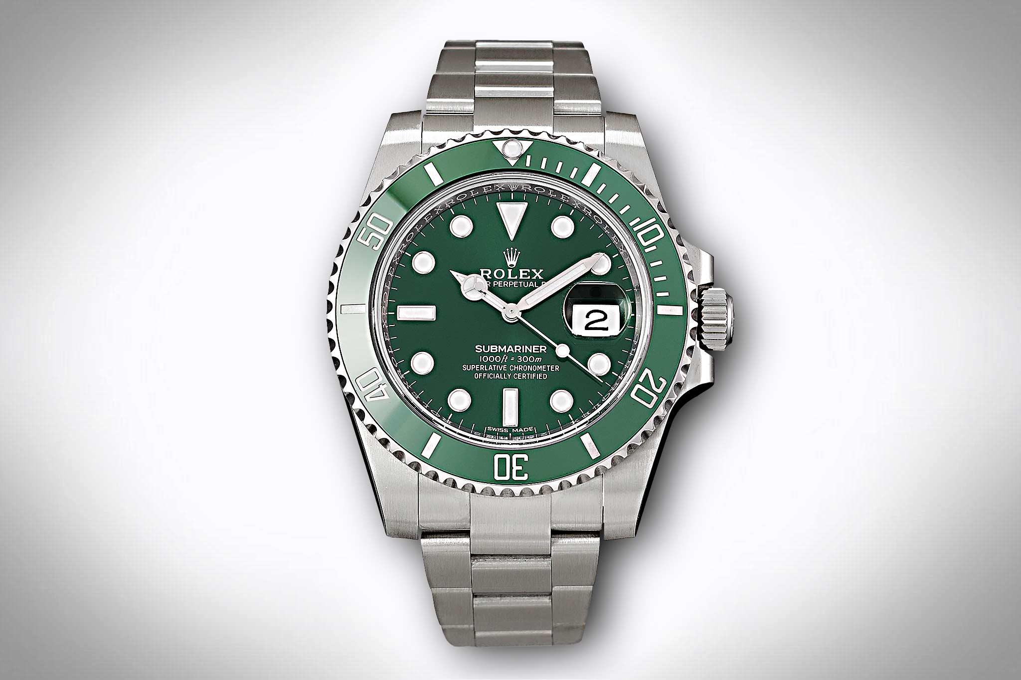 Rolex Submariner 116610LV mit grünem Zifferblatt