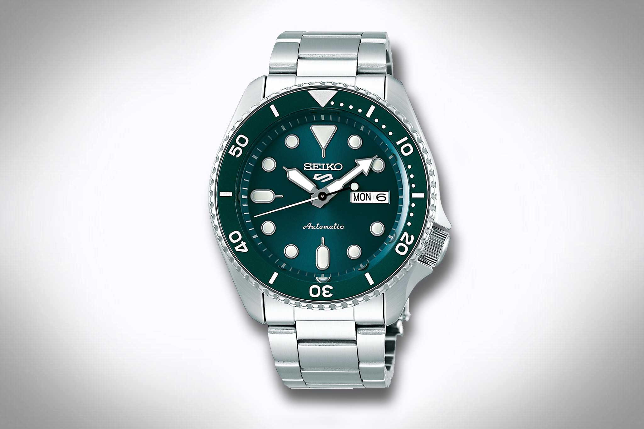 Uhren mit grünem Zifferblatt – Seiko 5 Sports Style SRPD61K1