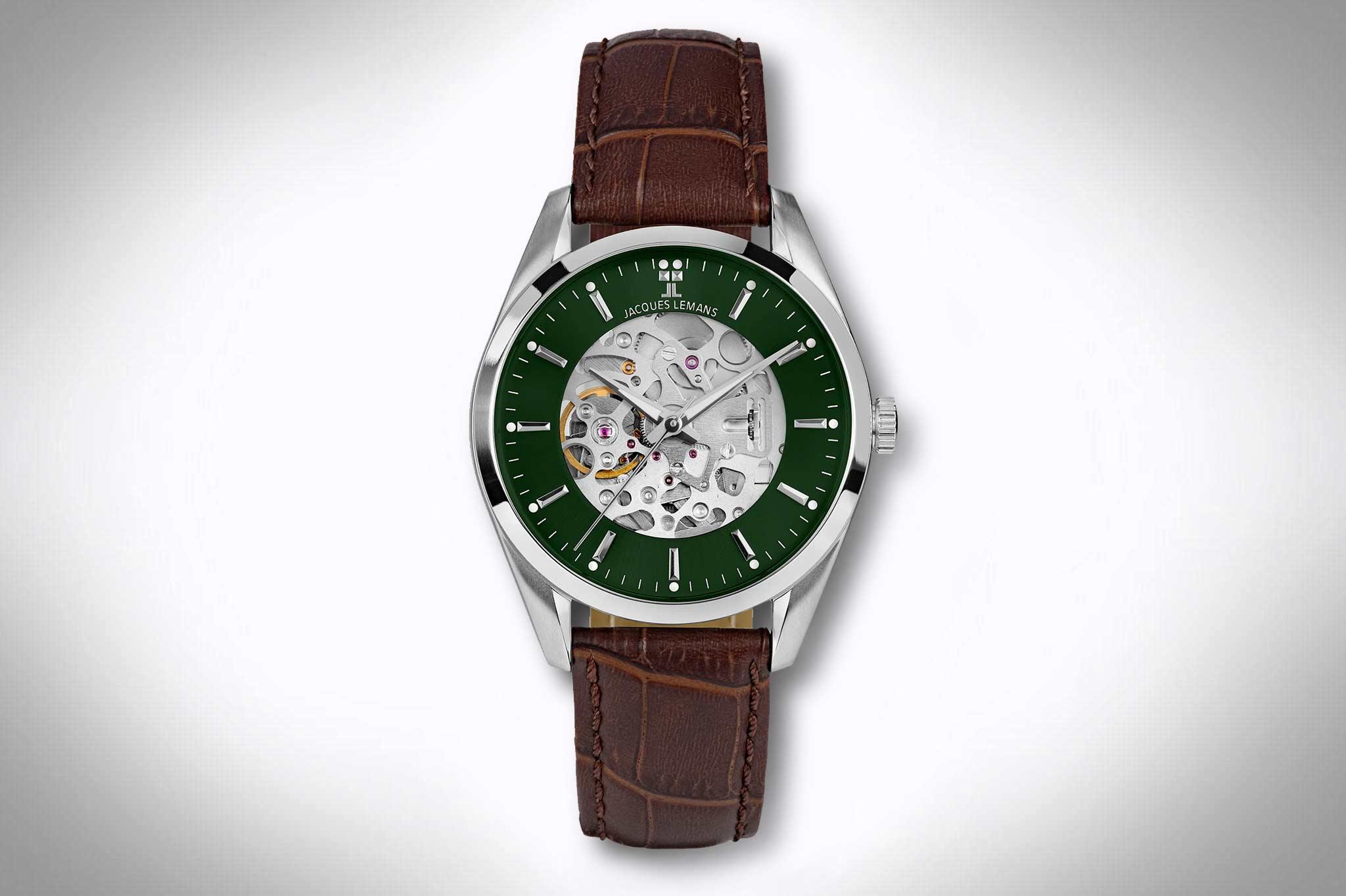 Uhren mit grünem Zifferblatt – Jacques Lemans Derby Automatic 1-2087