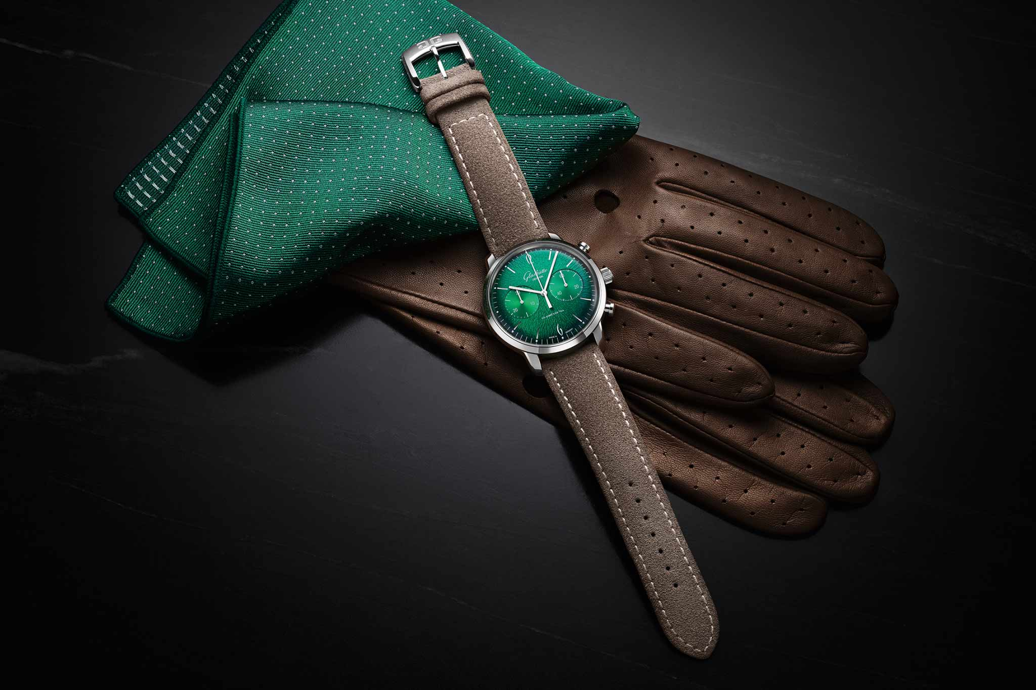 Glashütte Original_Sixties_Chronograph mit grünem Zifferblatt 2