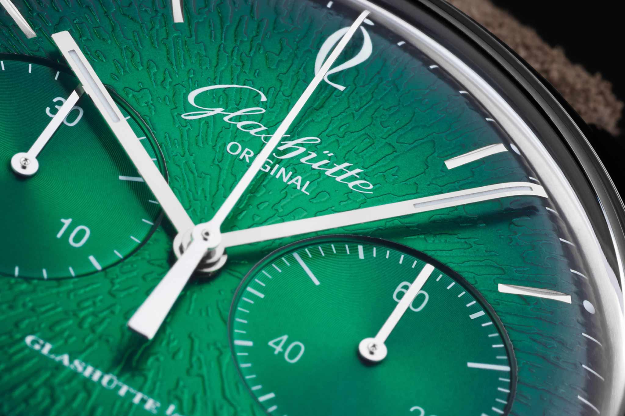 Glashütte Original Sixties Chronograph mit grünem Zifferblatt 2
