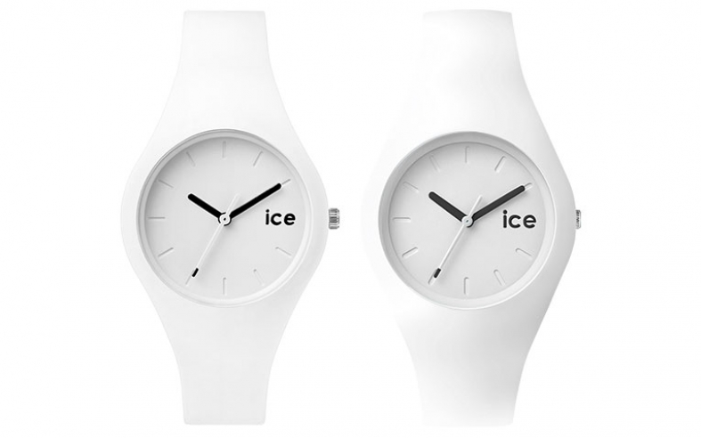 flache ice watch uhren ice ola weiss 33 7mm 43mm. Black Bedroom Furniture Sets. Home Design Ideas